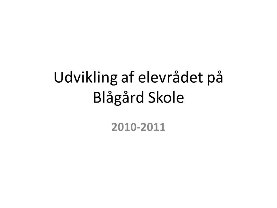 Udvikling af elevrådet på Blågård Skole