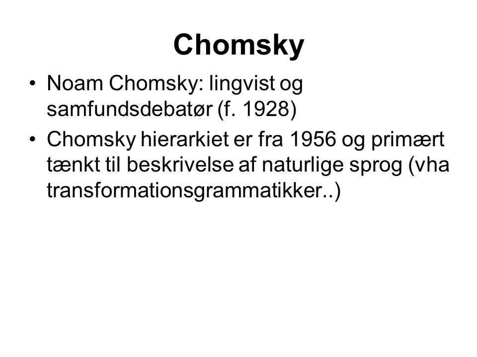 Chomsky Noam Chomsky: lingvist og samfundsdebatør (f. 1928)