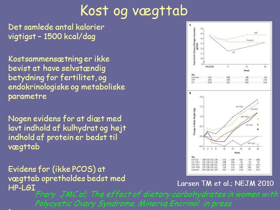 Kost og vægttab Det samlede antal kalorier vigtigst – 1500 kcal/dag