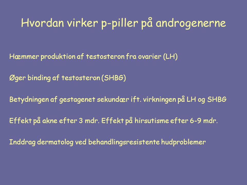Hvordan virker p-piller på androgenerne