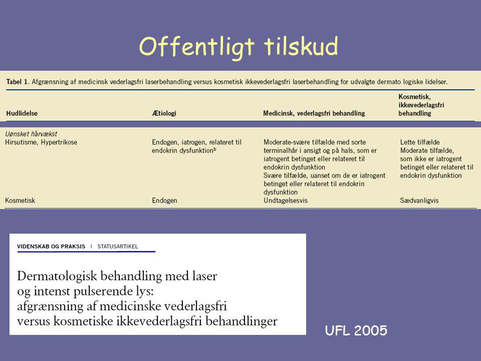Offentligt tilskud UFL 2005