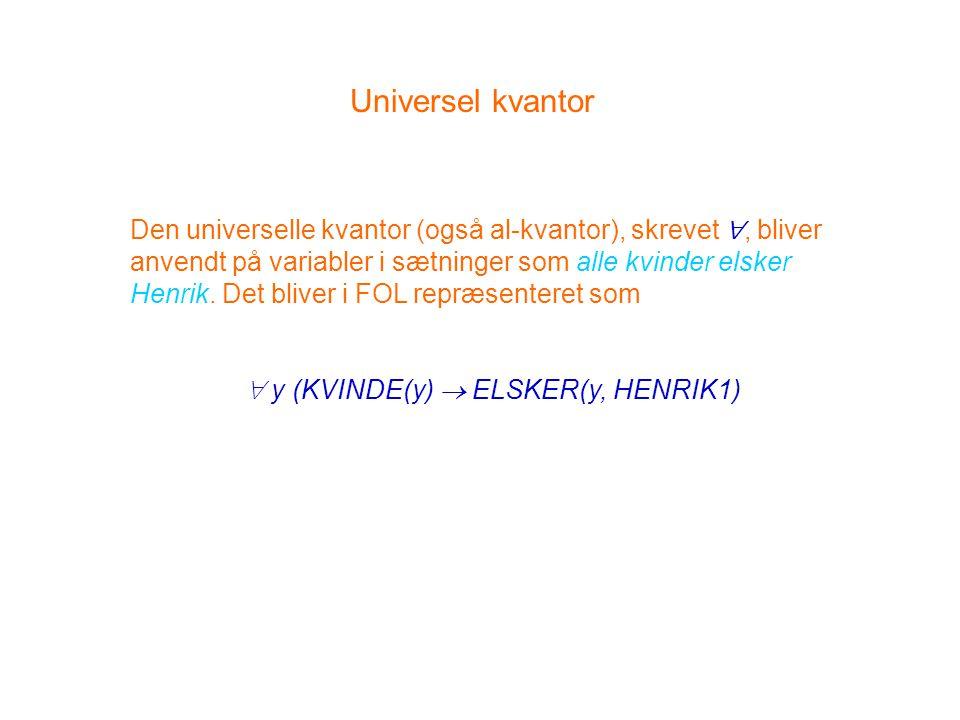  y (KVINDE(y)  ELSKER(y, HENRIK1)