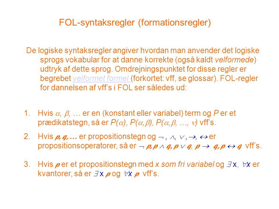 FOL-syntaksregler (formationsregler)