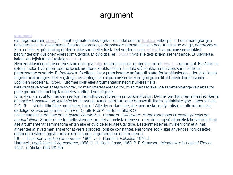 argument argument.