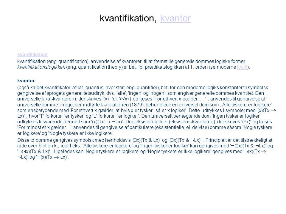 kvantifikation, kvantor