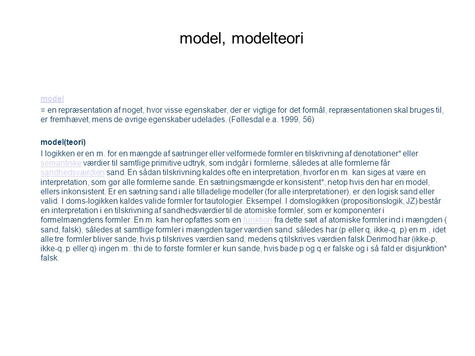 model, modelteori model