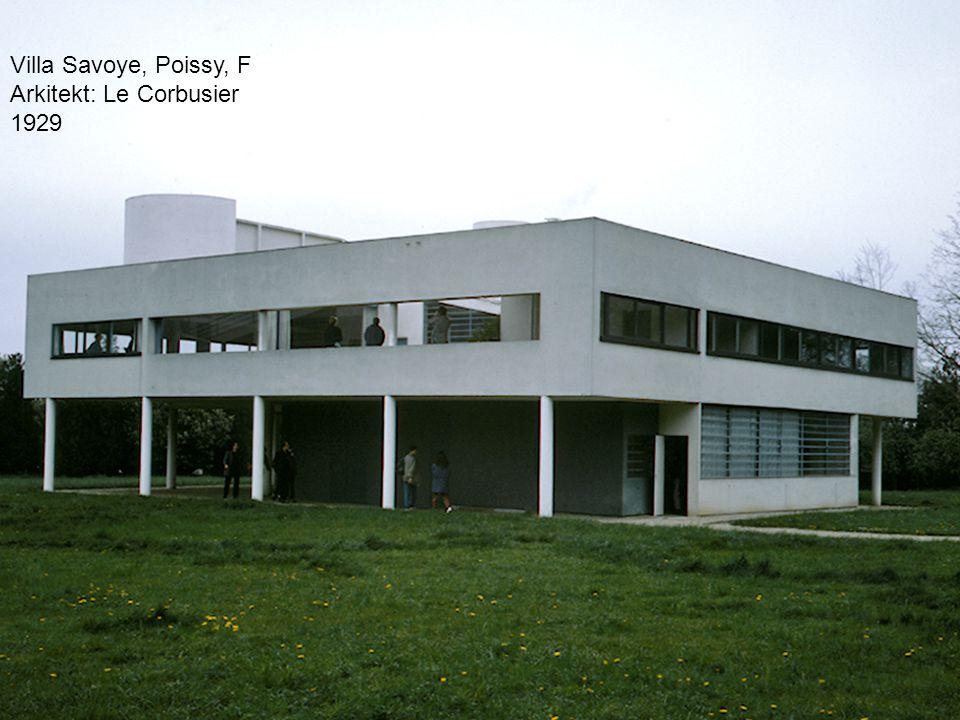 Villa Savoye, Poissy, F Arkitekt: Le Corbusier 1929