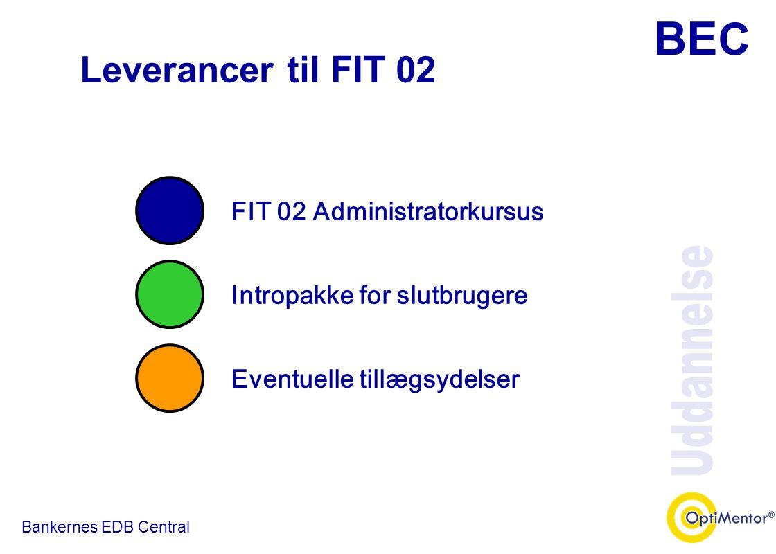 Leverancer til FIT 02 Uddannelse FIT 02 Administratorkursus