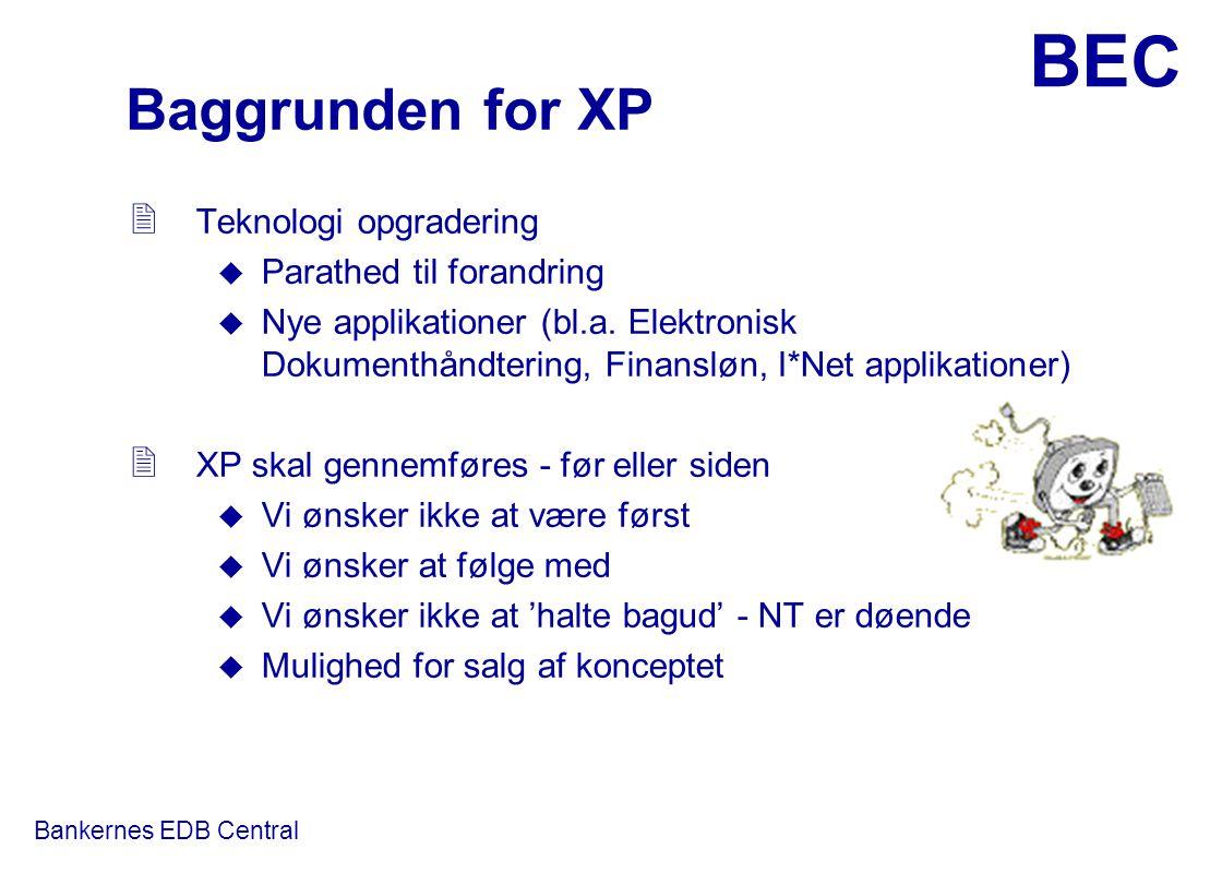 Baggrunden for XP Teknologi opgradering Parathed til forandring