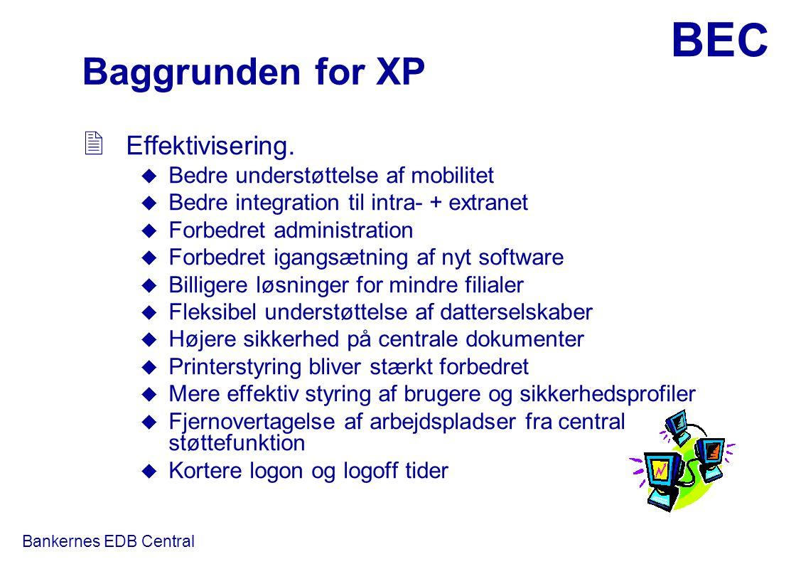 Baggrunden for XP Effektivisering. Bedre understøttelse af mobilitet