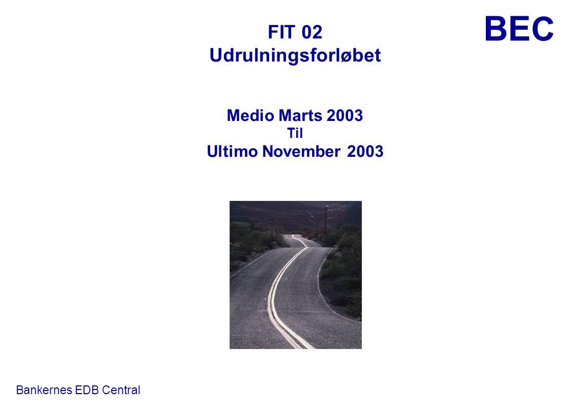 FIT 02 Udrulningsforløbet Medio Marts 2003 Til Ultimo November 2003