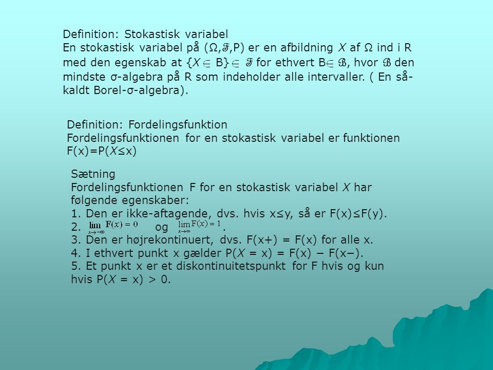 Definition: Stokastisk variabel