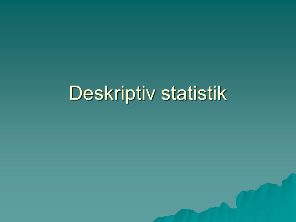 Deskriptiv statistik