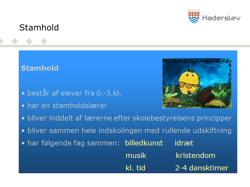 Stamhold Stamhold består af elever fra 0.-3.kl. har en stamholdslærer