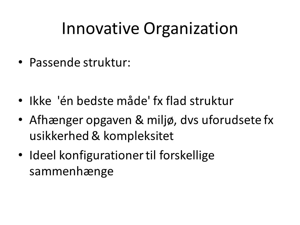 Innovative Organization