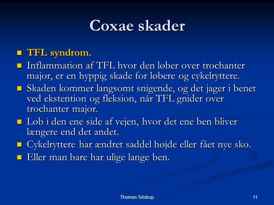Coxae skader TFL syndrom.