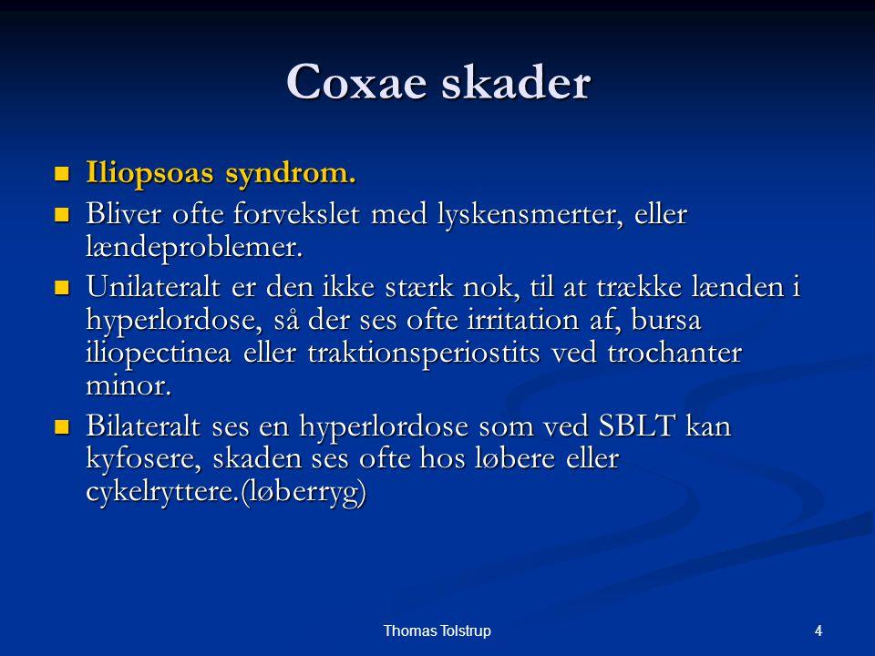 Coxae skader Iliopsoas syndrom.