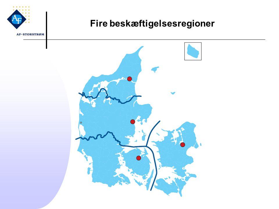 Fire beskæftigelsesregioner