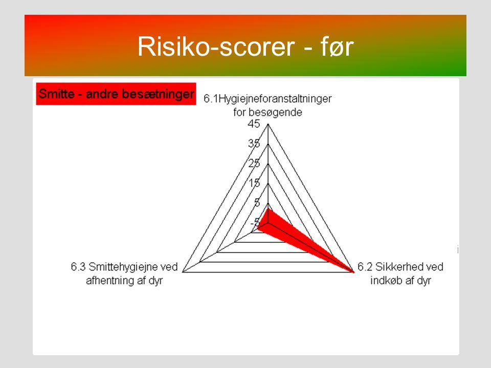 Risiko-scorer - før Bemærk: Der er flere figurer lagt oven på hinanden.