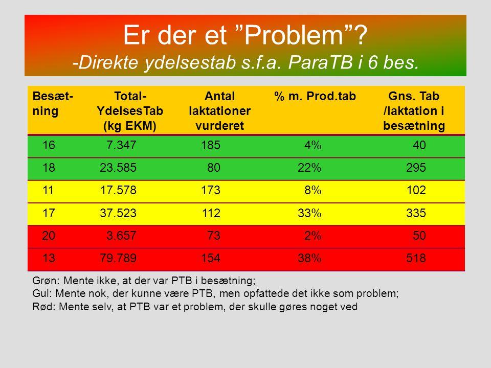 Er der et Problem -Direkte ydelsestab s.f.a. ParaTB i 6 bes.