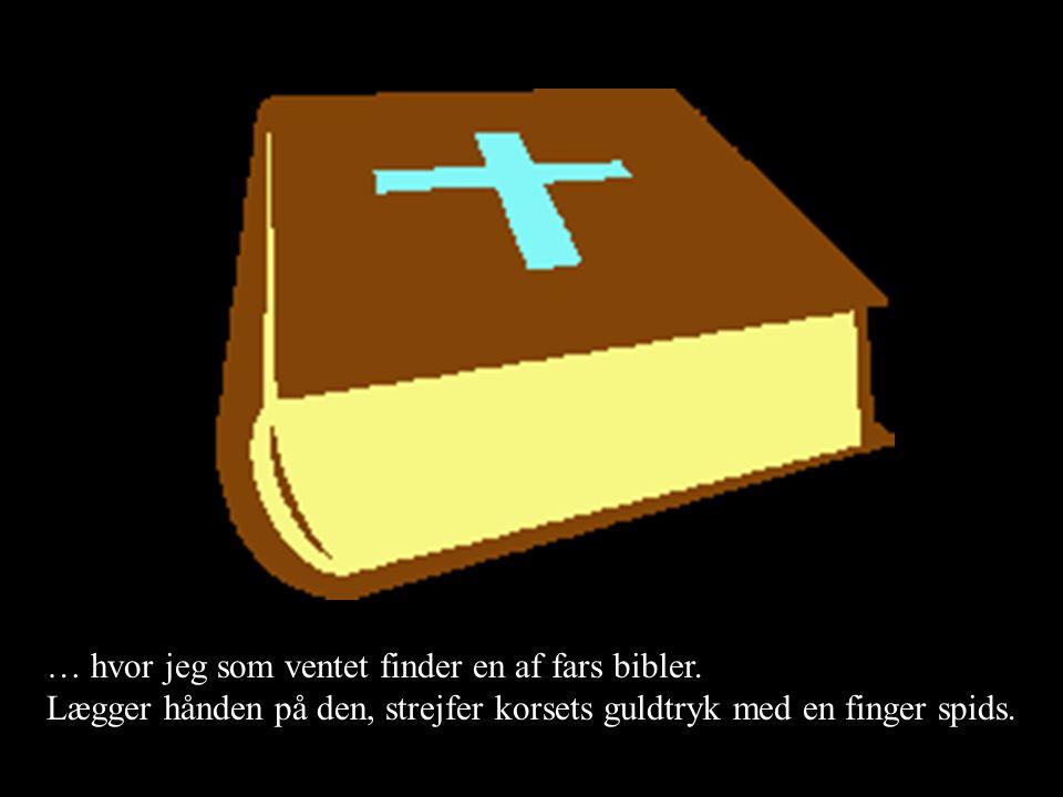 … hvor jeg som ventet finder en af fars bibler.