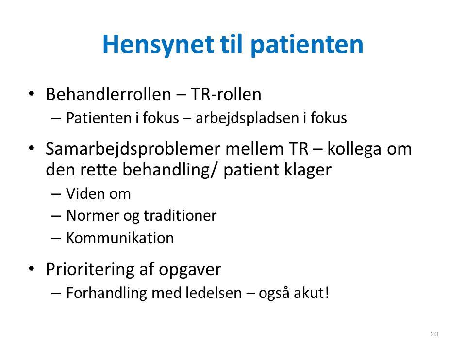 Hensynet til patienten