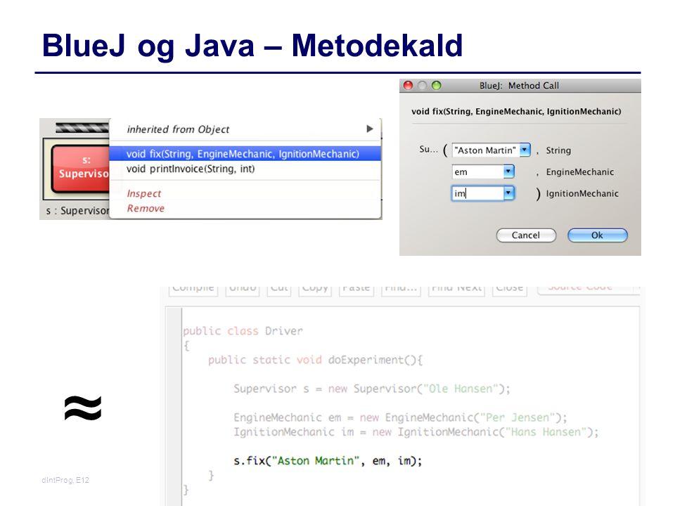 BlueJ og Java – Metodekald