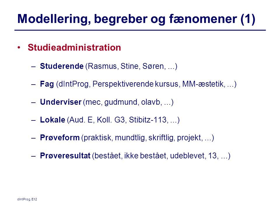 Modellering, begreber og fænomener (1)