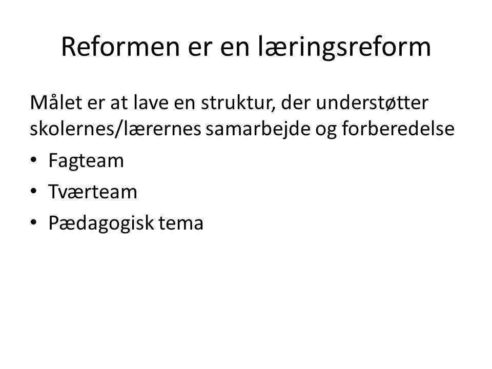 Reformen er en læringsreform
