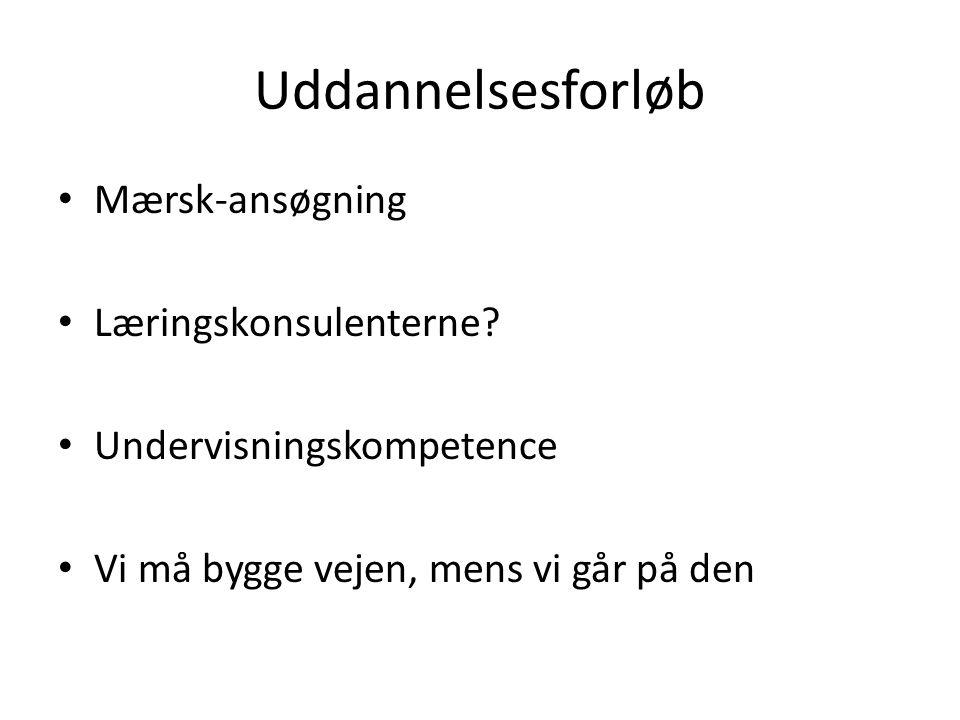 Uddannelsesforløb Mærsk-ansøgning Læringskonsulenterne