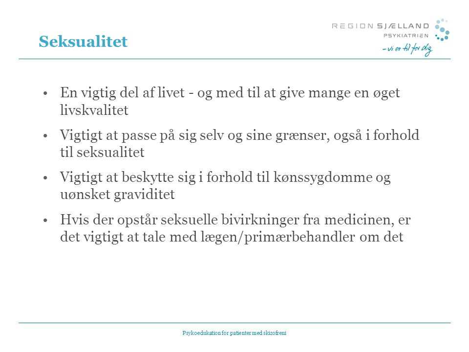 Psykoedukation for patienter med skizofreni