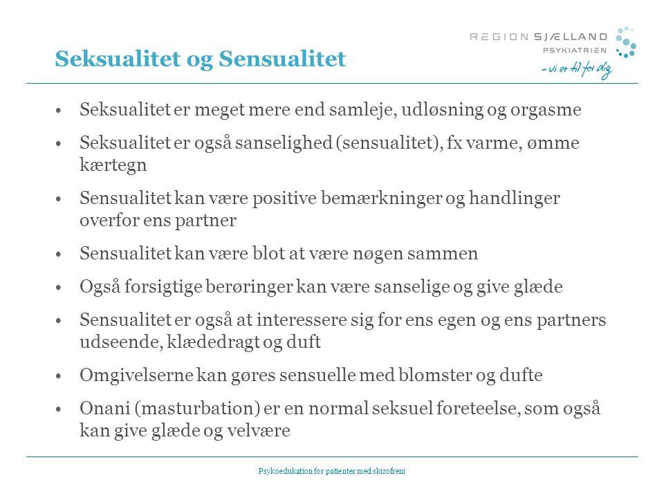 Seksualitet og Sensualitet