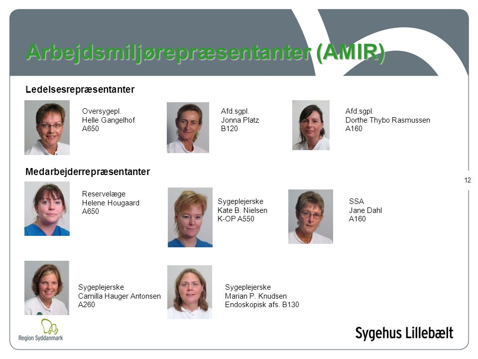 Arbejdsmiljørepræsentanter (AMIR)