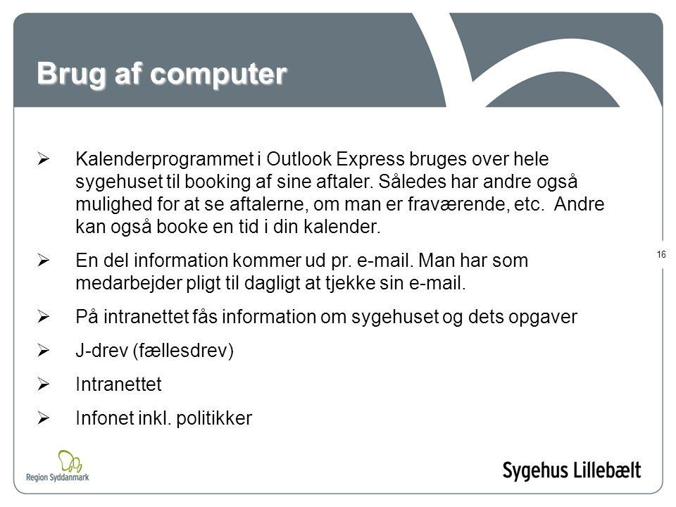 Brug af computer