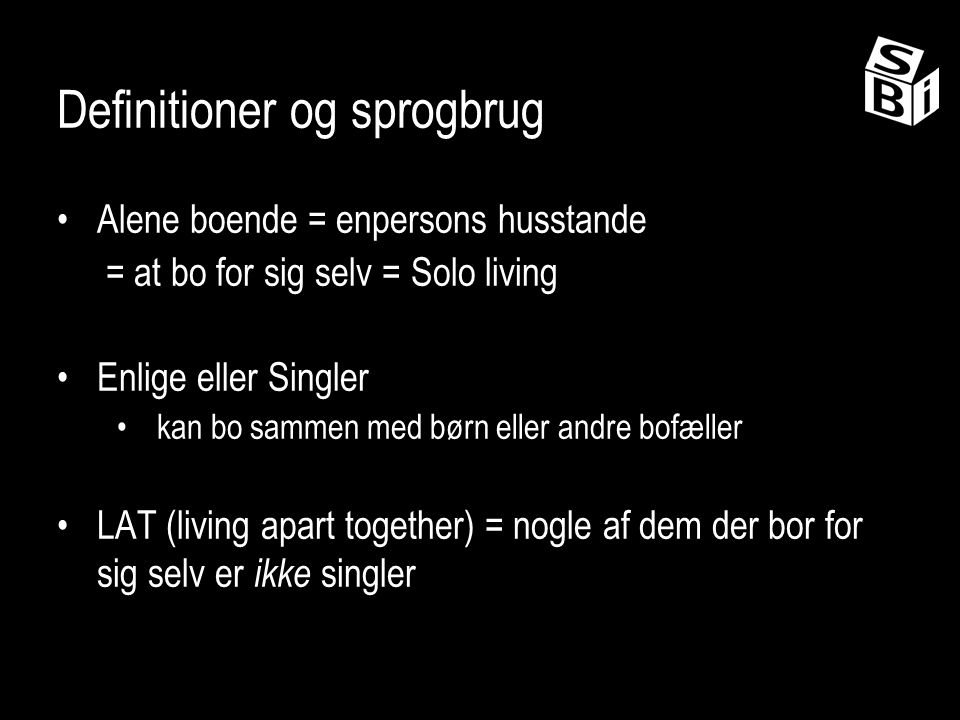 Definitioner og sprogbrug