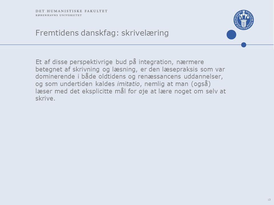 Fremtidens danskfag: skrivelæring