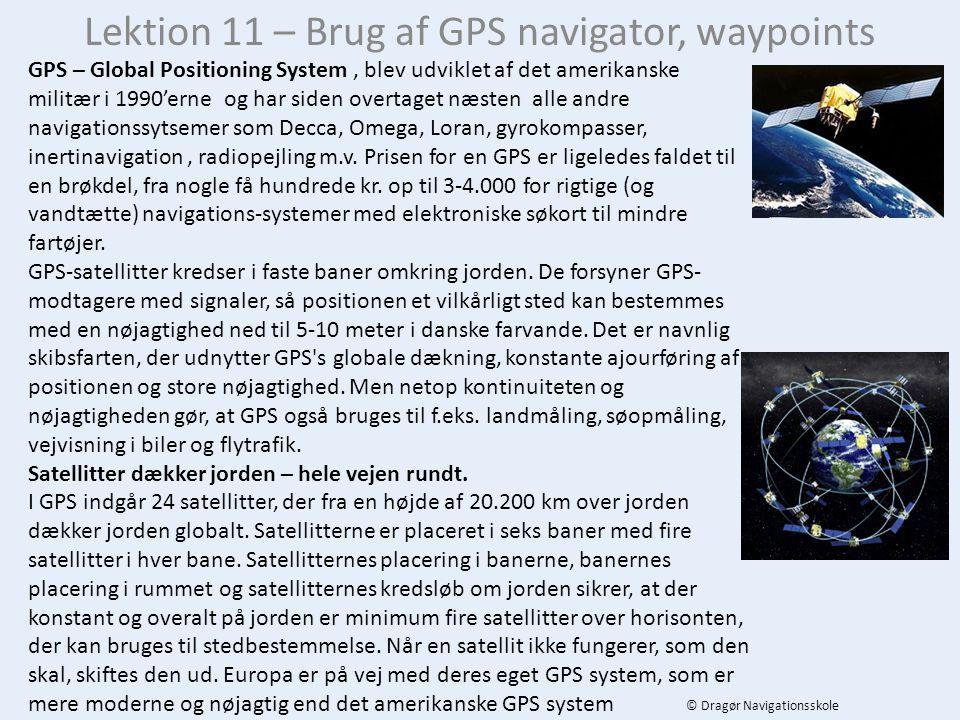 Lektion 11 – Brug af GPS navigator, waypoints