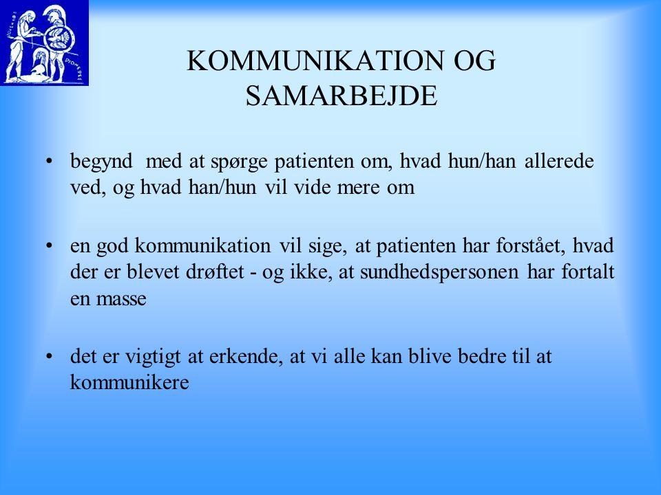 KOMMUNIKATION OG SAMARBEJDE