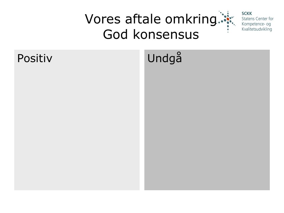 Vores aftale omkring God konsensus
