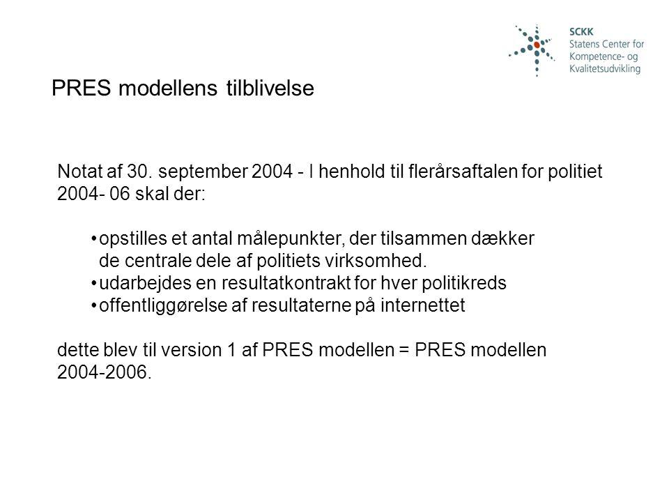 PRES modellens tilblivelse