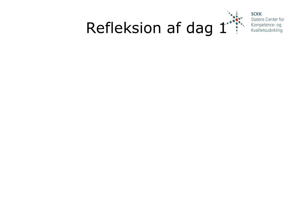 Refleksion af dag 1