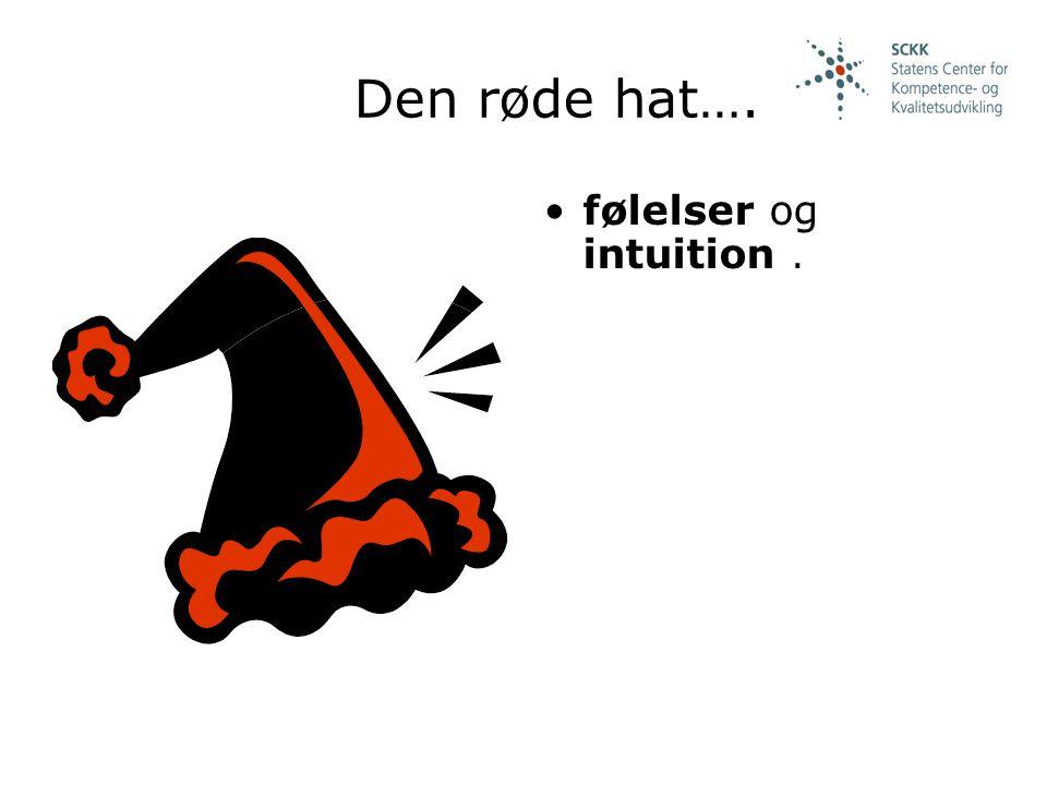 Den røde hat…. følelser og intuition .