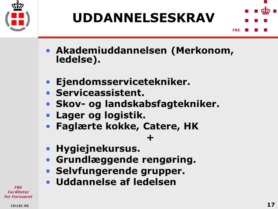 UDDANNELSESKRAV Akademiuddannelsen (Merkonom, ledelse).