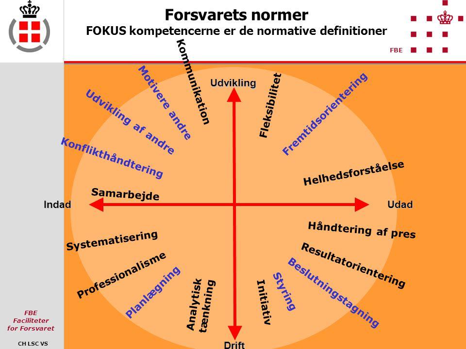 Forsvarets normer FOKUS kompetencerne er de normative definitioner