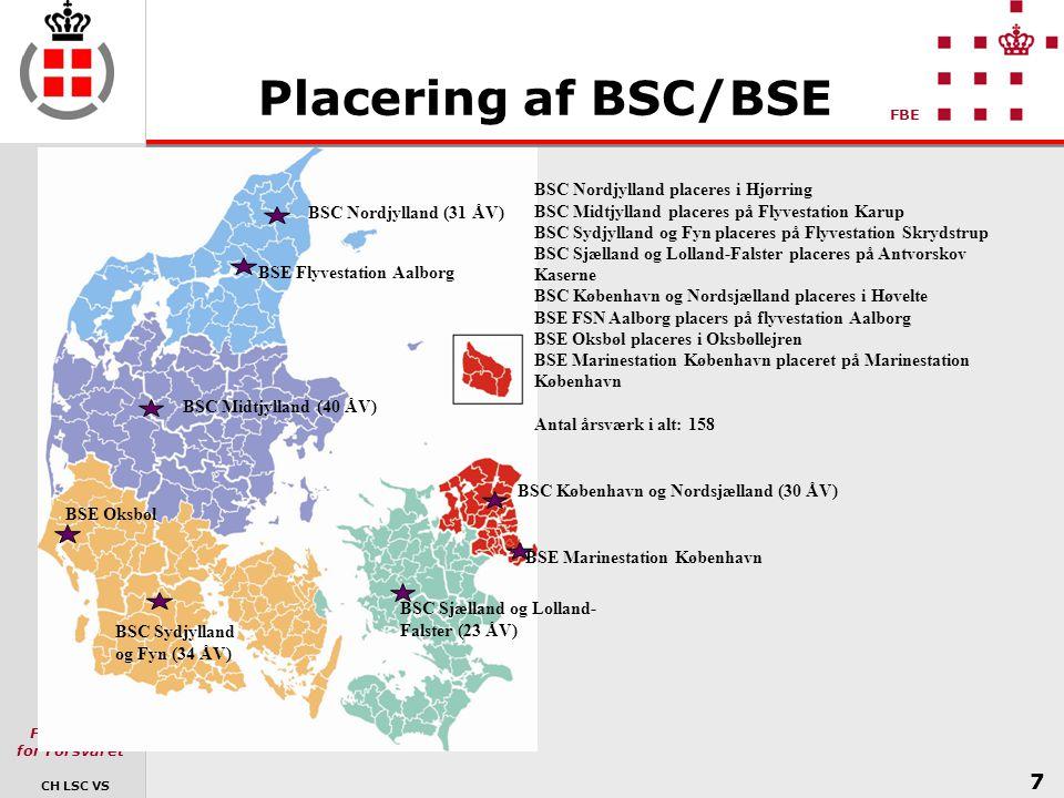 Placering af BSC/BSE BSC Nordjylland placeres i Hjørring