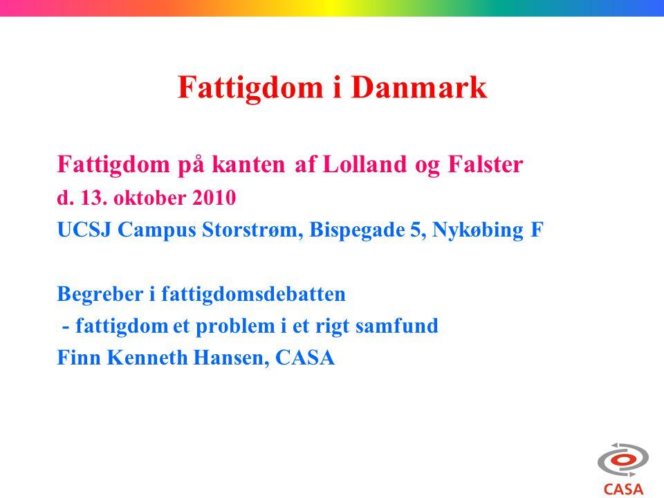 Fattigdom i Danmark Fattigdom på kanten af Lolland og Falster