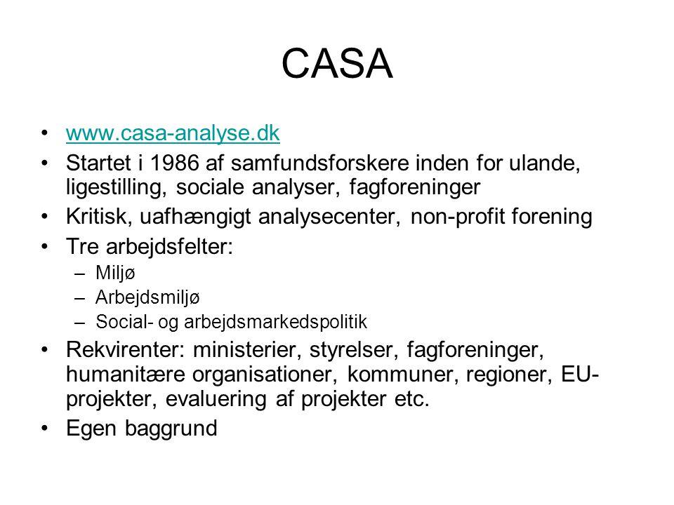 CASA www.casa-analyse.dk