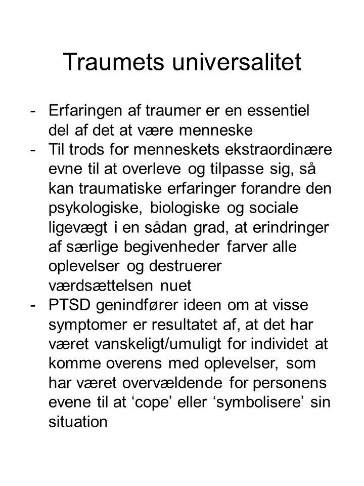 Traumets universalitet