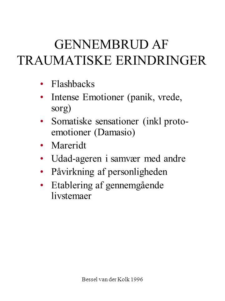 GENNEMBRUD AF TRAUMATISKE ERINDRINGER