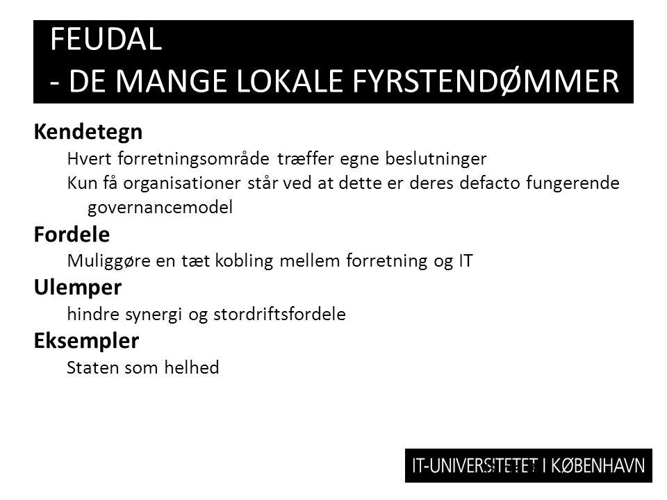 FEUDAL - DE MANGE LOKALE FYRSTENDØMMER